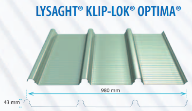 Tôn lợp LYSAGHT® KLIPLOK® OPTIMA